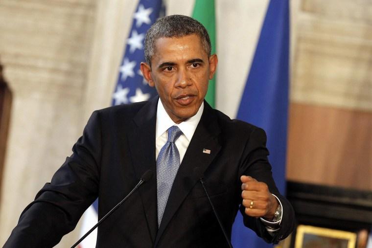 Image: US President Obama in Italy