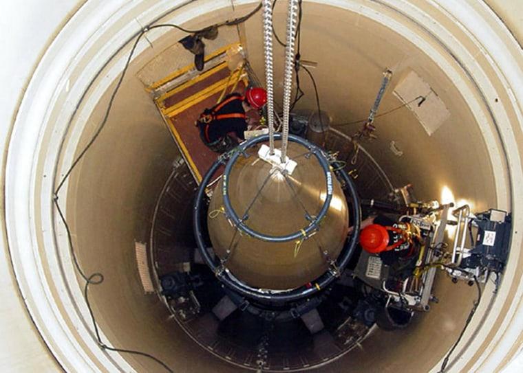 Image:  Malmstrom Air Force Base missile maintenance team