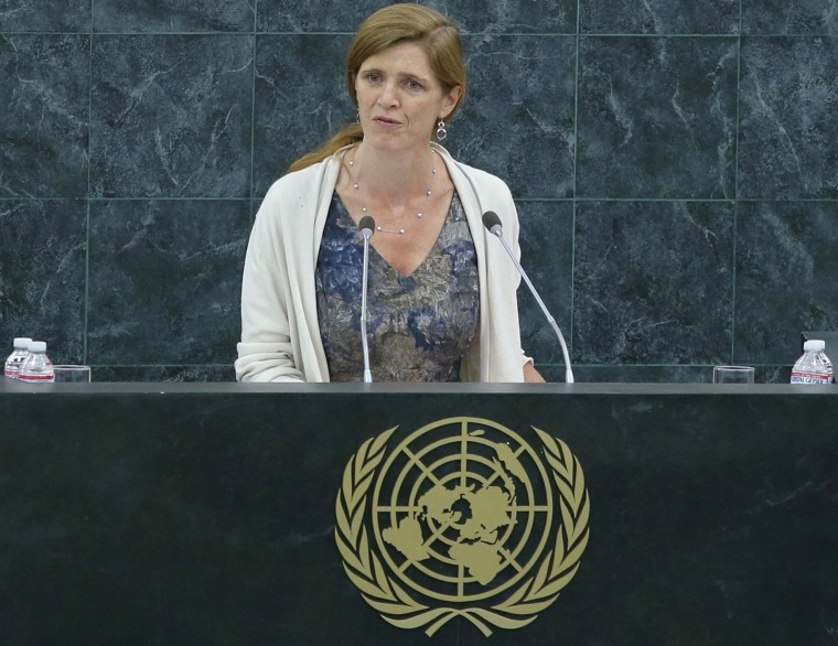 Image: U.S. Ambassador to the United Nations Samantha Power