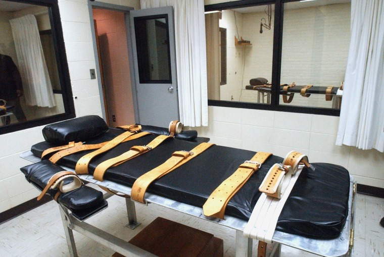 Image:  The lethal injection room at the Mississippi State Penitentiary in Parchman, Miss.