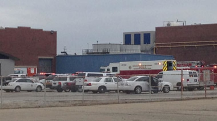 IMAGE: Emergency response at Roll-Royce plant in Indiana