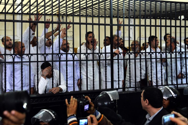 Image: Egypt sentences two Morsi supporters to death
