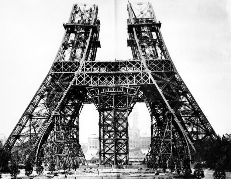 The Eiffel Tower under construction, 1887.