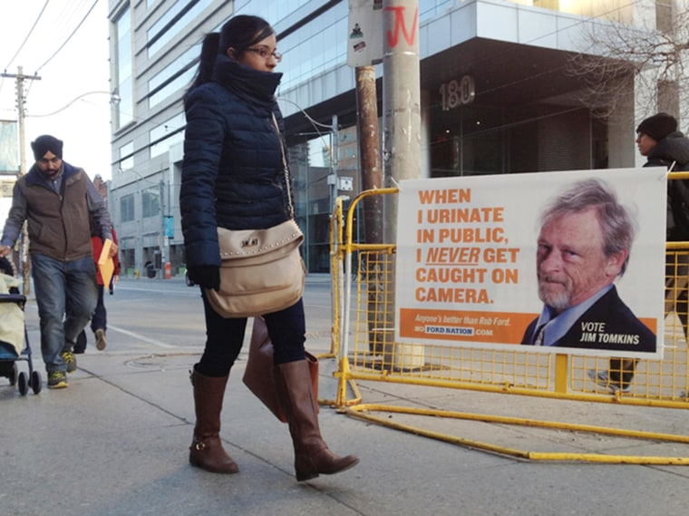An ad from the No Ford Nation campaign which seeks to prevent Toronto Mayor Rob Ford from being reelected.