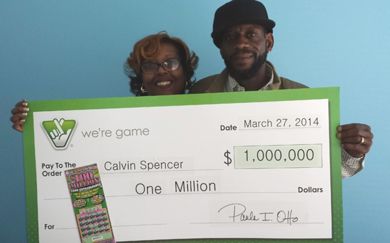 Calvin and Zatera Spencer recently won a second $1 million prize from the Virginia Lottery, about two weeks after winning $1 million in a Powerball game.