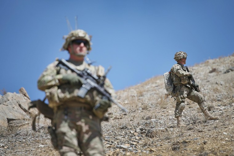 Image: U.S. Soldiers Continue Patrols Outside FOB Shank In Afghanistan