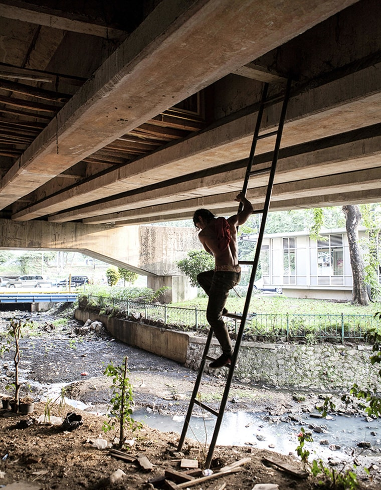 """Image: Rooms accessible by ladder have been banned, due to flooding danger and because the ladders were """"too visible"""" to passers-by."""