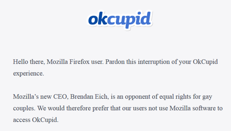 OkCupid Mozilla
