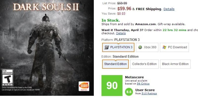 Video Games on Amazon Now Get 'Metacritic' Rating in Addition to Stars