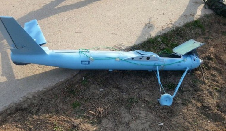 Image: Wreckage of a crashed drone