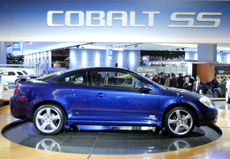 A 2005 Chevrolet Cobalt SS. GM CEO Mary Barra said she would have no problem with her son driving the car that has been recalled because of a faulty ignition switch.