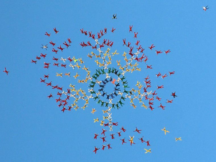Image: Largest Freefall Formation world record attempt in Arizona USA