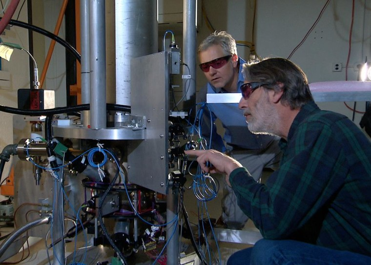 Image: NIST physicists Steve Jefferts and Tom Heavner with the NIST-F2 atomic clock