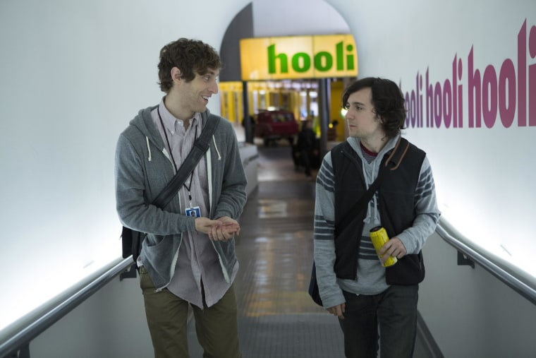 Richard (Thomas Middleditch, left), a brilliant, socially inept computer programmer, starts out living in a business-incubator hostel but starts his own company, based on a coveted compression algorithm.