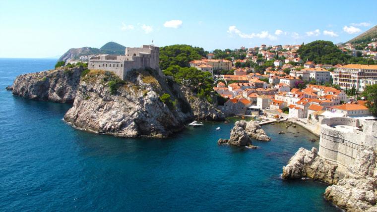 Fort Lovrijenac And Walls Of Dubrovnik