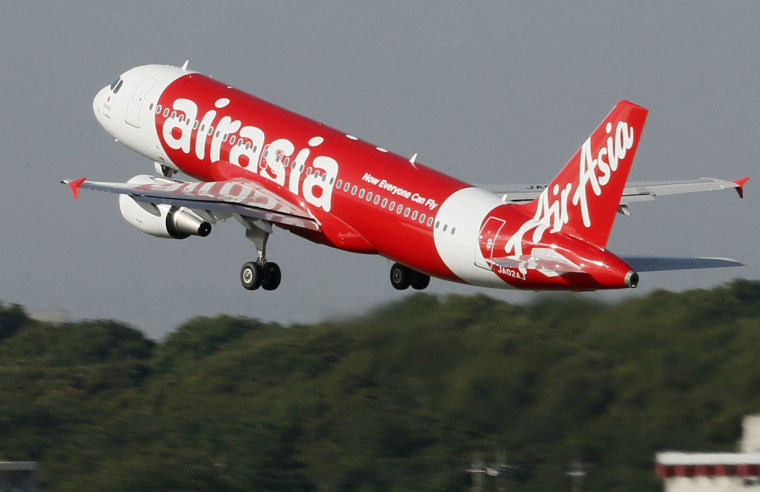 An AirAsia flight takes off from Narita airport near Tokyo in 2012.