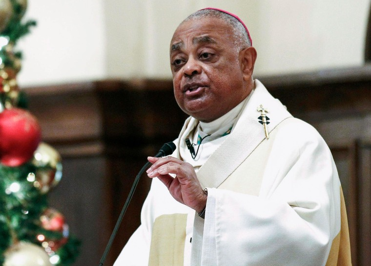 Image: Roman Catholic Archbishop of Atlanta Wilton Gregory speaking to parishioners in Atlanta, Georgia