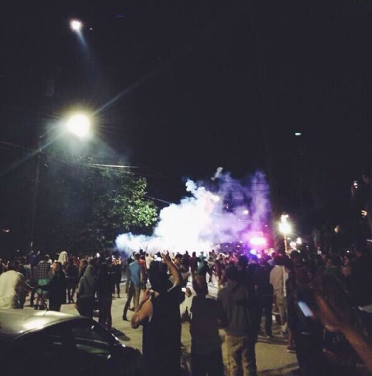 """Image: People a large party nicknamed """"Deltopia"""" devolved into a riot"""