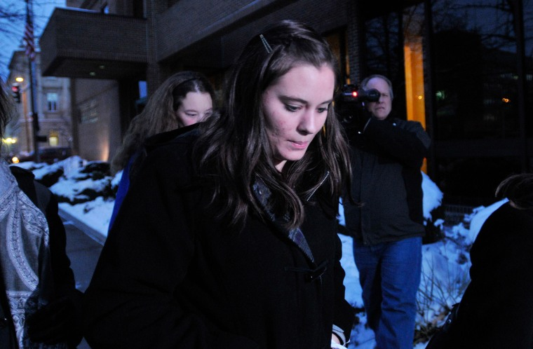 Image: Jordan Graham leaves U.S. District court in Missoula, Montana