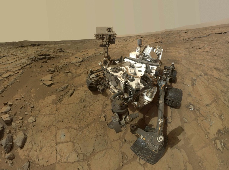 Image: Handout NASA composite image shows a self-portrait of NASA's Mars Curiosity rover