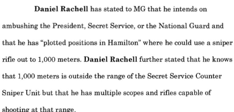 Image: Detail from affidavit