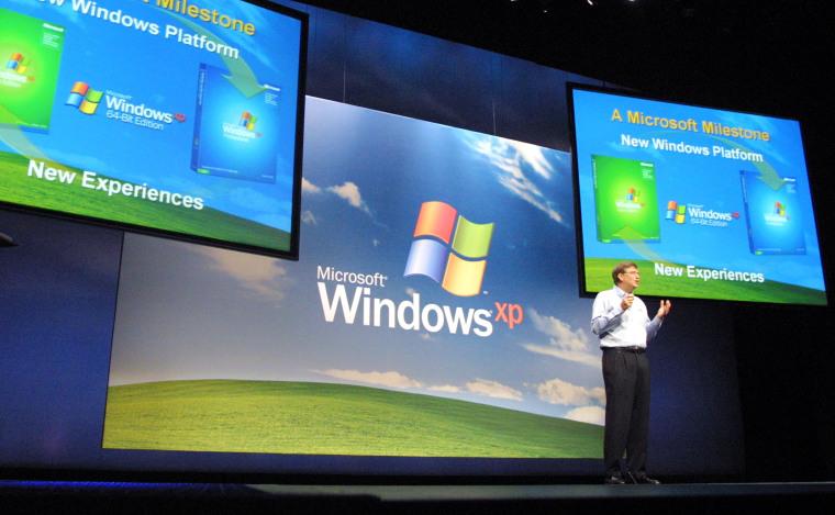 Gates Unveils Windows XP