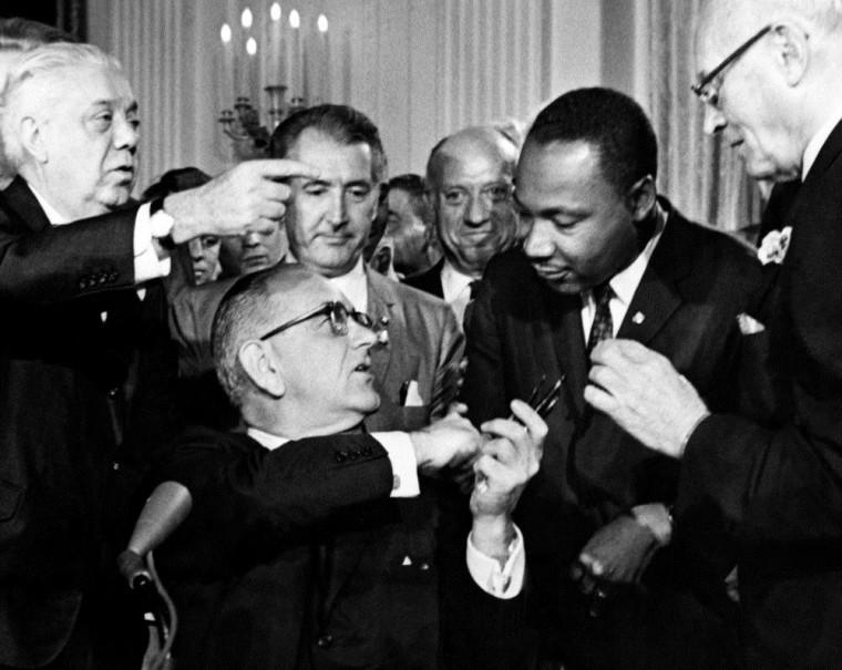 Image: Image: US President Lyndon B. Johnson
