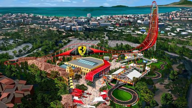 """Image: """"Ferrari Land"""" theme park is scheduled to open in 2016 within the Port Aventura resort near Barcelona, Spain."""
