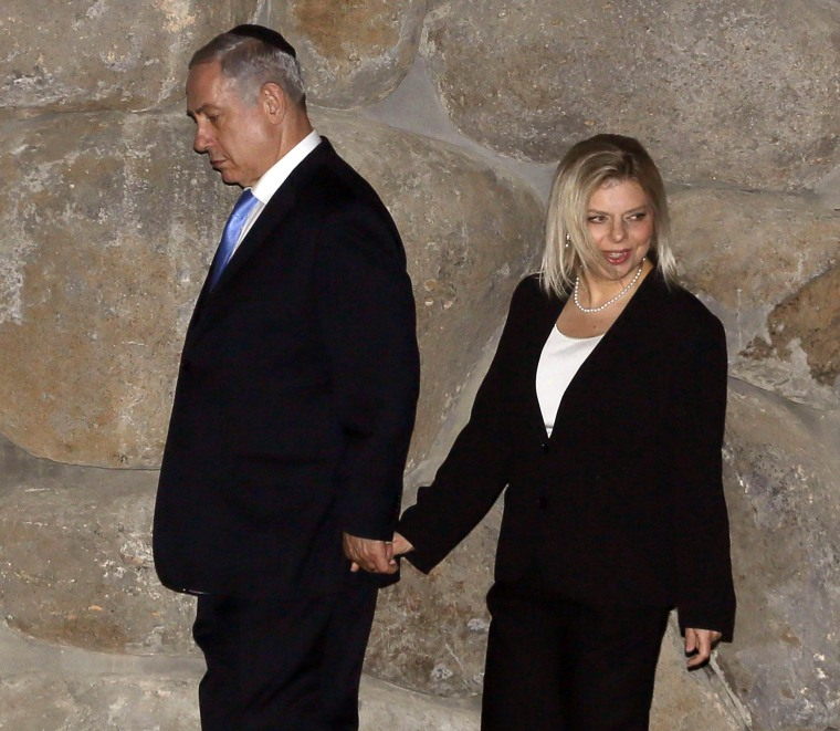 Image: Israeli Prime Minister Benjamin Netanyahu and his wife Sara