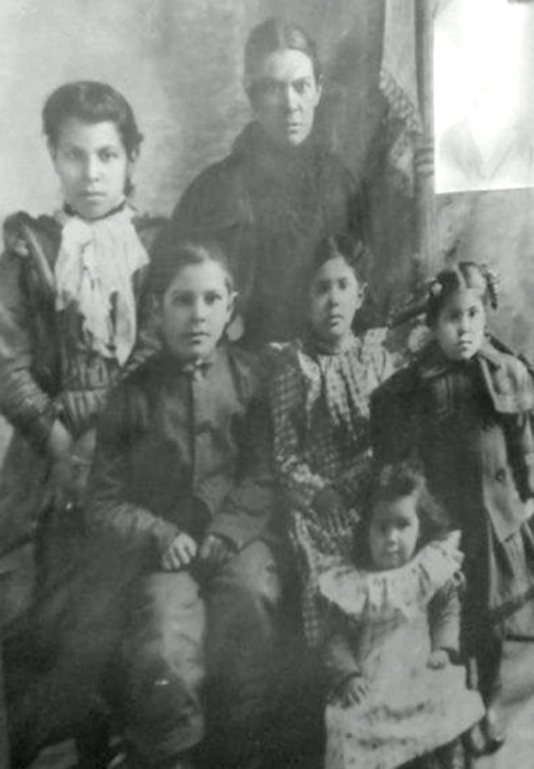 Northern New Mexico College prof. Patricia Perea's ancestor, Martita Baca, is shown in a picture with her children around 1900 in New Mexico - before it was incorporated as a state.