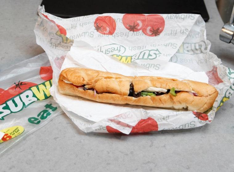 A Subway sandwich