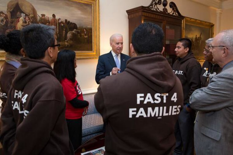 Image: Vice President Biden meets with the Fast for Families group
