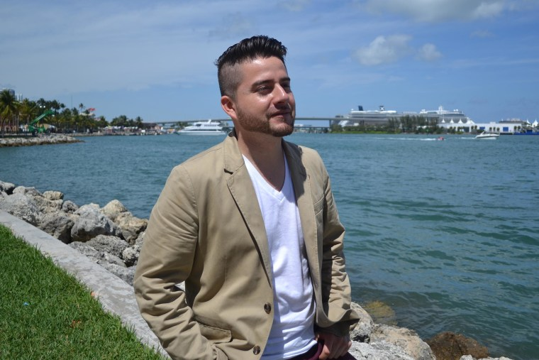 """Jorge Narvaez, who got national recognition for his singing in """"America's Got Talent"""" and other shows, is now singing for a different reason - to call attention to his mother's situation as she waits to hear if she can stay in the U.S."""