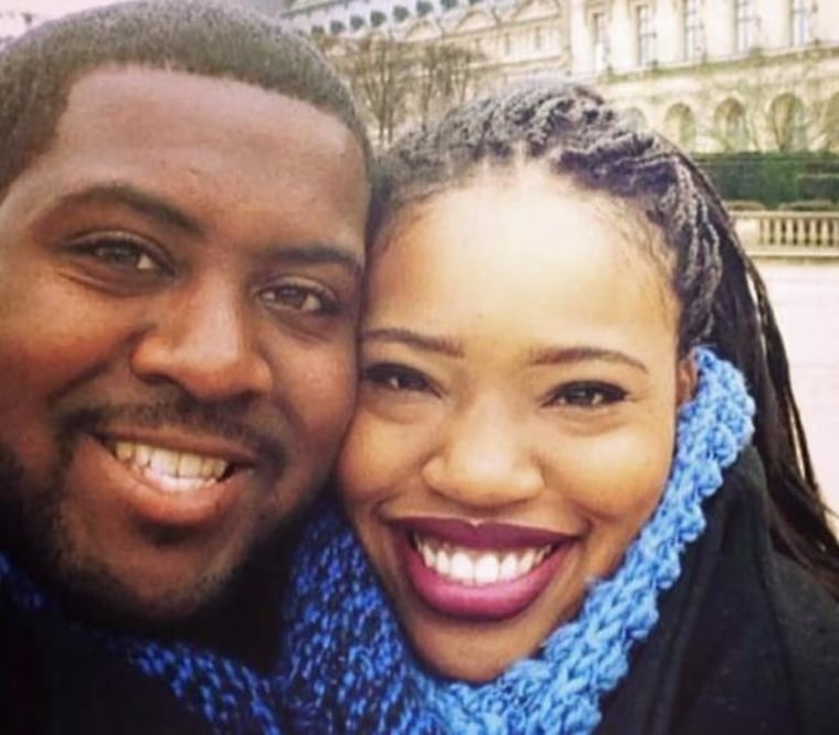 Michael Myvett and his fiancee, Mattison Haywood. The two were chaperones on the bus carrying high school students to Humboldt State University when it was hit by a FedEx tractor trailer Thursday night.