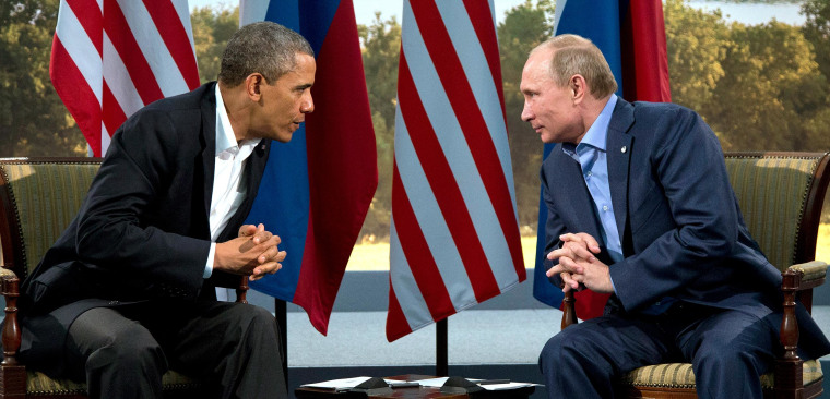Image: President Barack Obama meets with Russian President Vladimir Putin in Northern Ireland in June.