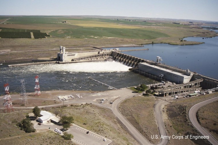 Ice Harbor Lock and Dam in Washington.