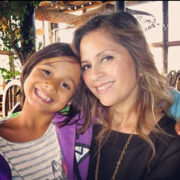 Esther Alvarado with her granddaughter Eliana Narvaez, now 9.