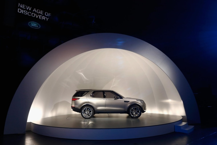 The Discovery Vision Concept, Land Rover's design vision for a family of new premium SUVs, made its global debut at an exclusive event in New York City.