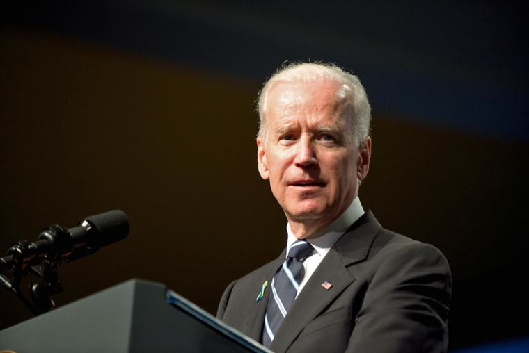 Vice President Joe Biden speaks at a tribute for victims of the Boston Marathon bombings.