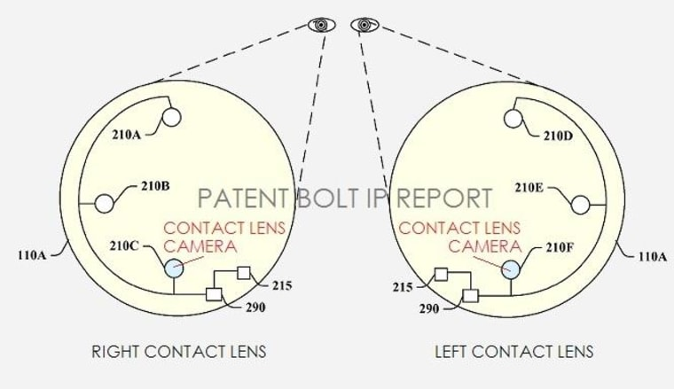 An illustration from the patent application shows a possible configuration of camera and supporting electronics.