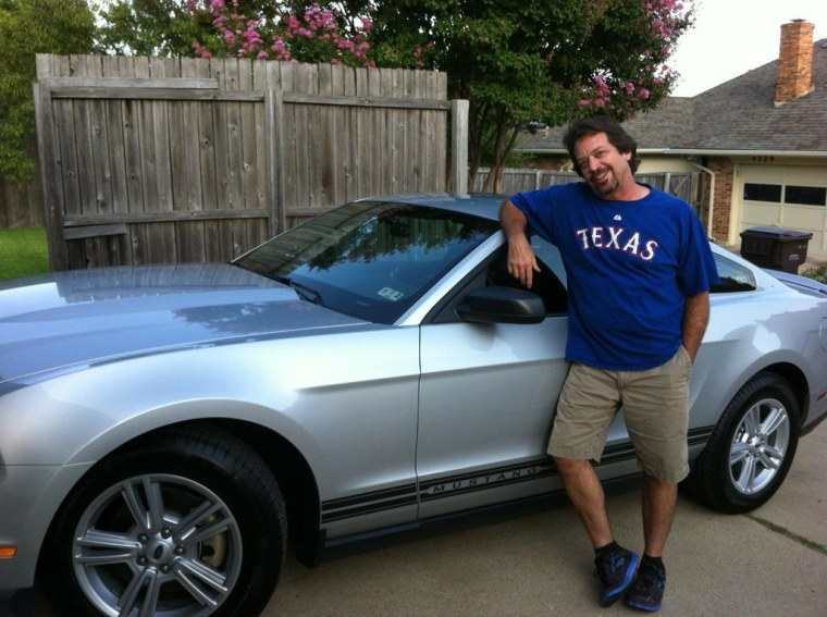 Pat Conner shares this photo of her son, John, who purchased his Mustang in 2012.