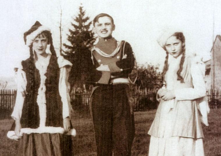 Image: Pope John Paul II acting in a high school play.