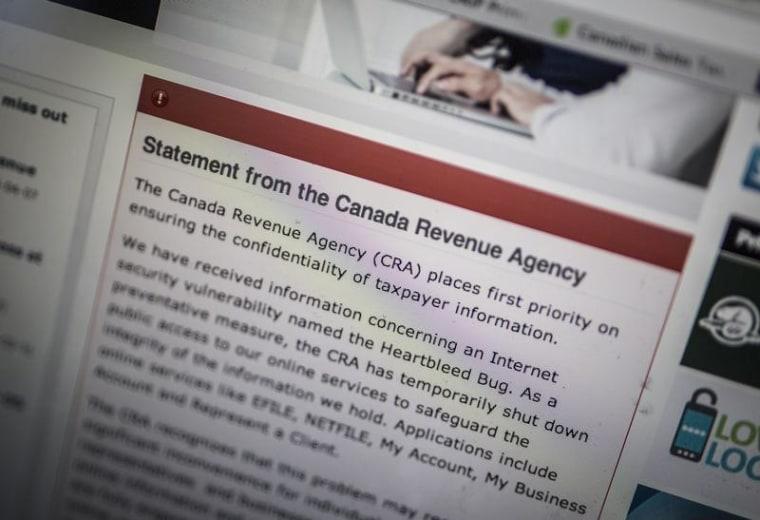 Image: Canada Revenue Agency website