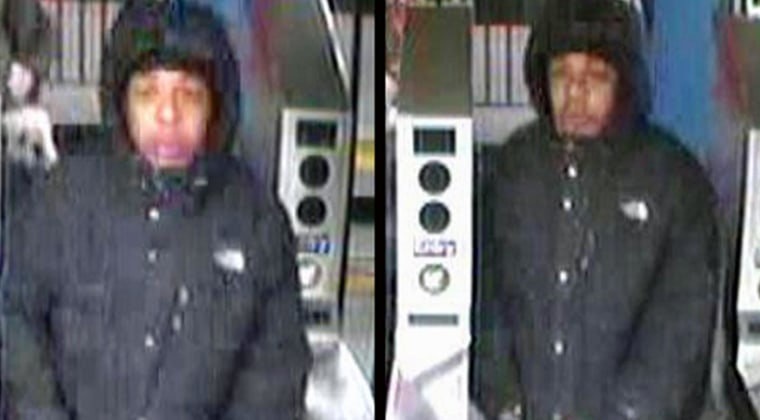 Image: Police released these surveillance images of a suspect accused of assault and robbery of one dollar