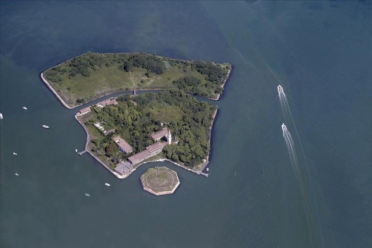 Aerial View Of Isola di Poveglia, Venezia