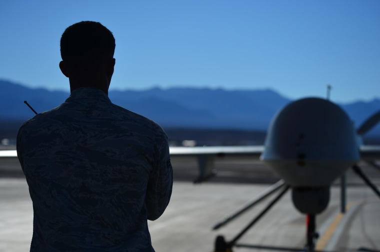 Image: MQ-1 Predator at Creech Air Force Base in Nevada