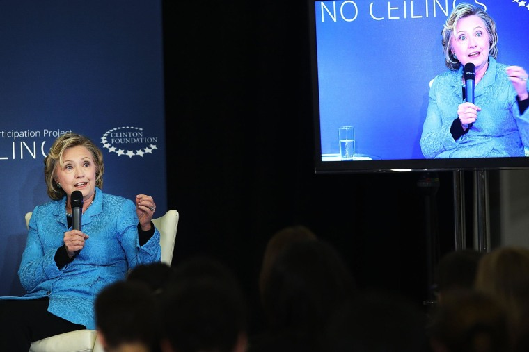 Image: Hillary And Chelsea Clinton Speak Host Discussion On Girls And Women