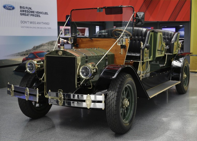 Will this replace horse-drawn carriages in New York's Central Park? A prototype of an electric carriage is displayed at the New York International Auto Show.