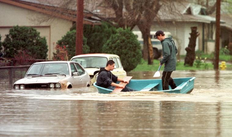 Image: Flooding in Petaluma, Calif.