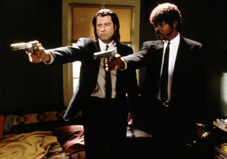 Image: John Travolta, as Vincent, and Samuel L. Jackson, as Jules in Quentin Tarantino's 1994 film 'Pulp Fiction'.